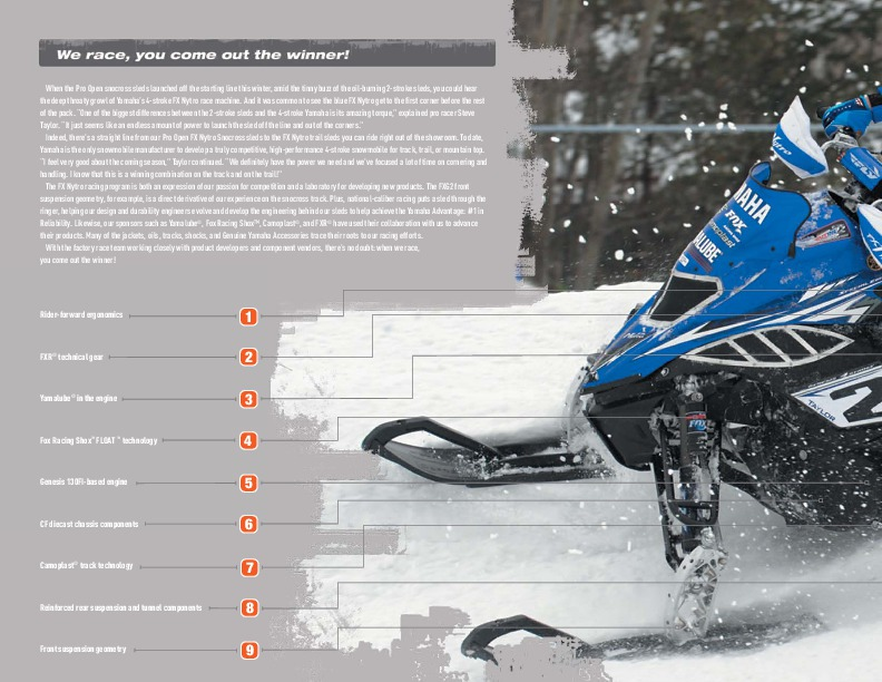 2010 yamaha snowmobile fx nytro rtx xtx phazer rtx gt apex