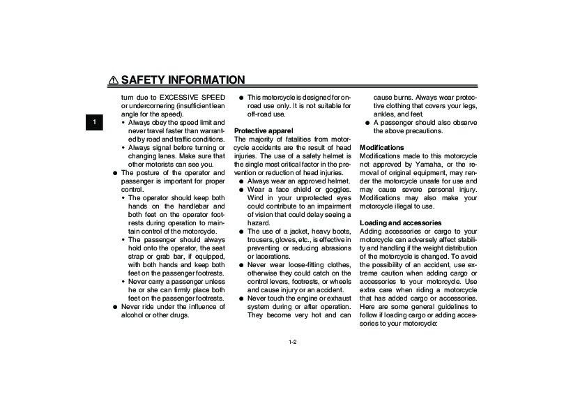Yamaha Fz Owners Manual Pdf
